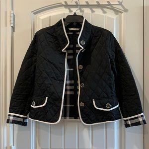 Burberry Black White Coat Short Jacket S